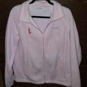 Columbia Pink Fleece Jacket with Breast Cancer Rib